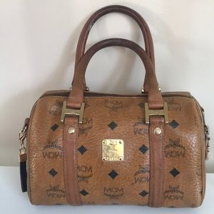 Authentic mini boston MCM bag